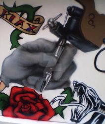 Tattoo on the wall by k-rul
