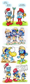 Smurfs: Some lost village doodles compilation by rinacat