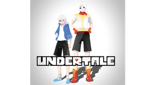 MMDxUNDERTALE -Human Sans and Papyrus- DL by KhrisMx