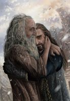 Thorin and Thrain Commission by x-Celebril-x