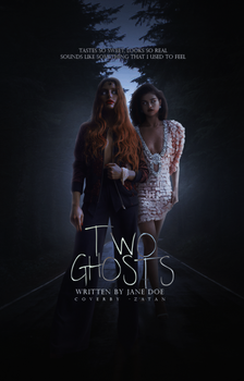 two ghosts, wattpad cover by larriereligion