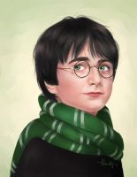 Slytherin Harry by kimpertinent
