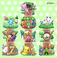 Pokemon Forest by aquabluu