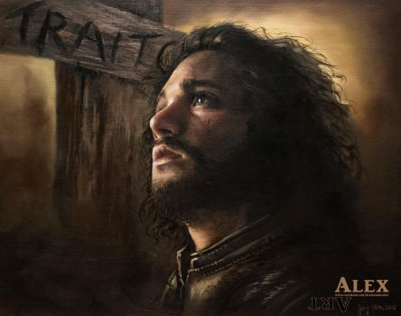 Jon Snow - Oil Painting by Astartte