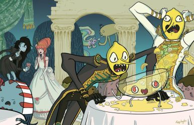 Lemongrab Party Time by kaytayto