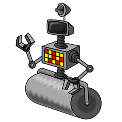 Bupkis RollerBot sprite test01 by KeithMcMurran