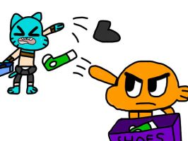 The Shoe Battle by MigsGarcia5127