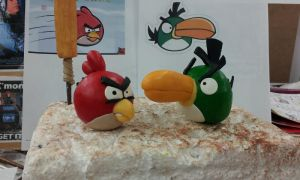 Angry Birds Sculptures by Speezi