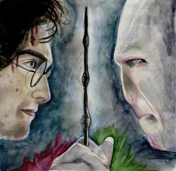It All Ends (Harry Potter Watercolor) by julesrizz