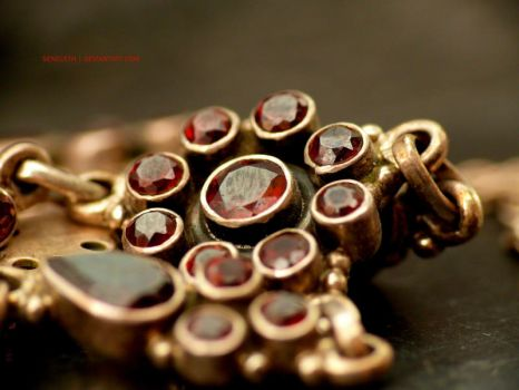 Golden-Red Necklace No1 by seneleth