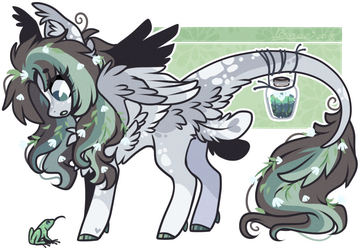 AUCTION : White Flower Licilla pone (closed) by D-Dyee