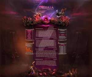 MMORPG Webdesign Lageria by LA-Graphic