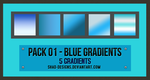 Pack 01 - Blue Gradients by shad-designs by shad-designs