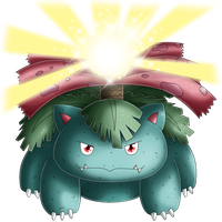 Pokedex 003: Venusaur- Solarbeam by izka197