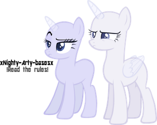 [MLP BASE - She said what?!] by xNighty-arty-basesx
