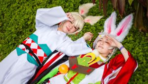 Yamausagi and Usagimaru Cosplay by raveka