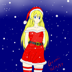 Chitoge Christmas by genzaii