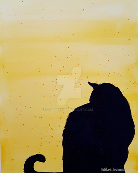 Yellow cat by Safikei