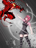 Carnage vs Lucy by Henil031