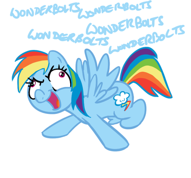 I sure do like them ponies(Rainbow Dash) by Elslowmo