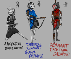 Imperial Remnant Infantry through the ages. by woundedskies