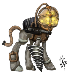 BioShock Big Daddy MLP Adopt (Closed) by ProjectBlastArt