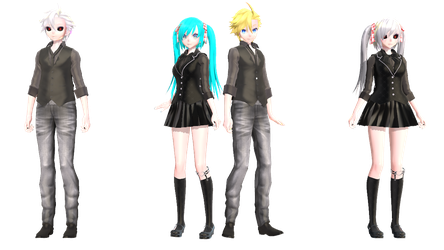 [MMD+DL] Ghoul Miku and Len by 01mikuxlen02