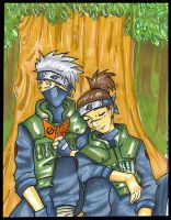 Kakashi Iruka quiet time by jac