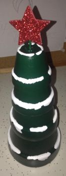 Christmas tree made out of baby terracotta pots by Fluffer2004