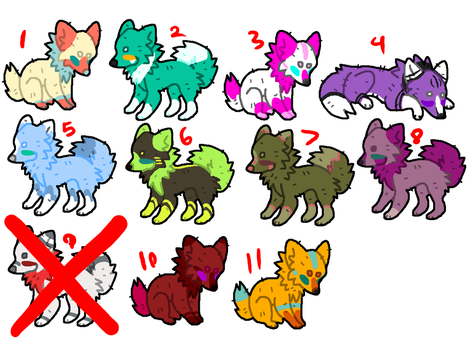Pay what you Want ADOPTABLES (9/11 OPEN) by Candythekitty1152