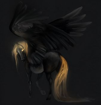 speedpaint pegasus by Elsouille