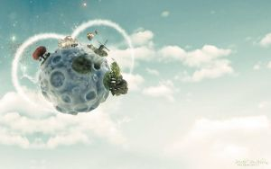My Little Planet - Free PSD by 5p34k