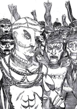 Xerxes and his Immortals by mortichro