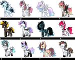 PONY AUCTION #24 (CLOSED) by SilverFeather-Adopts