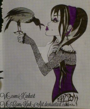 gothic girl by K.inkArt  by VkComKinkArt