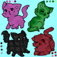 Kawaii Kitties Adoptables 2 by IceMintSong