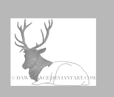 Stone Stag WIP by Dawndance