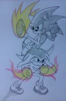 Sonic Battle and Knuckles by DashKnife-edge