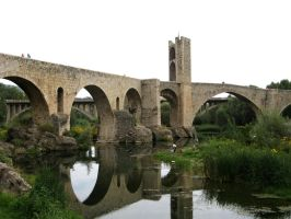Besalu Bridge by smallsofthamish