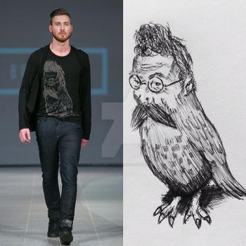 One of my drawings @ Riga Fashion Week by WebagentOnAir