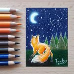 Foxy and the Stars by TenebrisArt