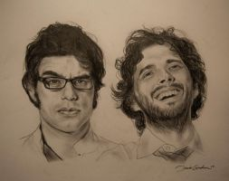 Flight Of The Conchords by IAmPencilFingerz