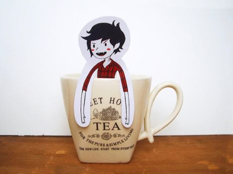 Marshall Lee / Adventure Time - tea hanger by OMEGA86