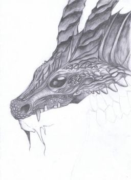 Unfinished Dragon by PaintStrip