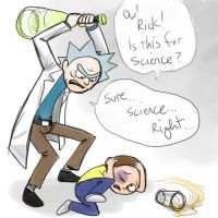 Rick And Morty Beatdown by jameson9101322