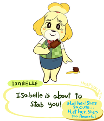 leaked new isabelle attack in smash bros by MissPolycysticOvary