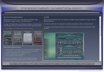 PMgfx website v2 by peacemaker