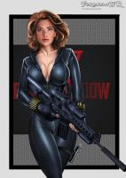 BLACK WIDOW AVENGERS(viuva negra) version2 by killbiro