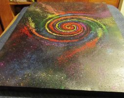 SPIRAL RAINBOW (angled view 1) (not rainbowgalaxy) by spiralcosmosart