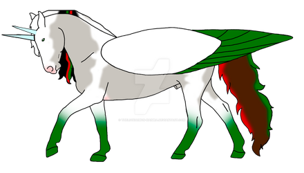 Conall and christmas angel foal- for sandy by theliondemon-kaimra